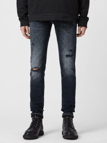 ג'ינס סקיני ווש עם קרעים של ALL SAINTS