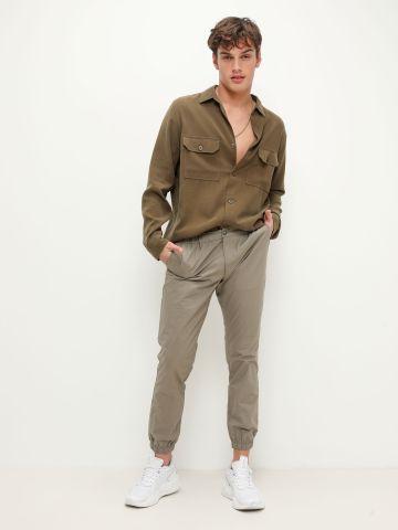 חולצה מכופרת עם כיסים של ALL SAINTS