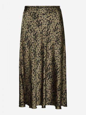 חצאית מידי סאטן בהדפס חברבורות של VERO MODA