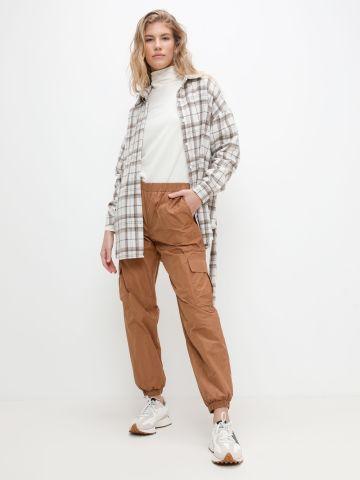 """מכנסי דגמ""""ח ניילון עם גומי בסיומת של VERO MODA"""