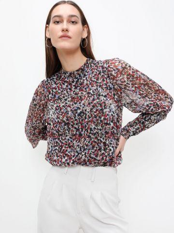 חולצה בהדפס עם צווארון גבוה של VERO MODA