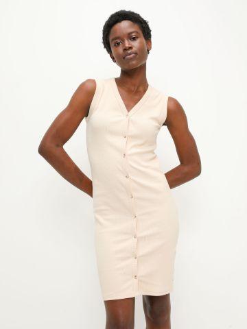 שמלת ריב עם כפתורים של TERMINAL X