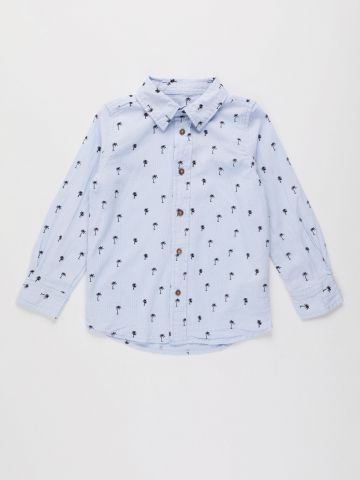 חולצה מכופתרת בהדפס / בנים של FOX