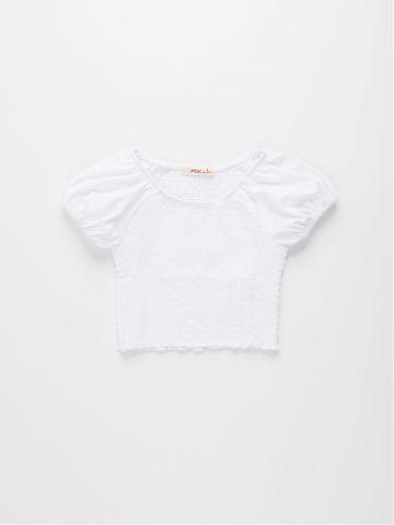 חולצת כיווצים שרוולים נפוחים / בנות של FOX