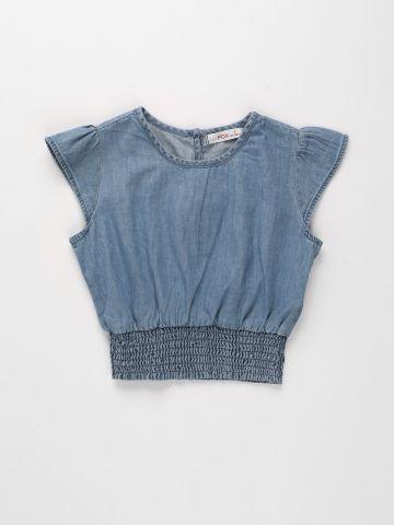 חולצת ג'ינס עם כיווצים / בנות של FOX