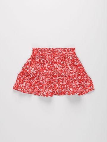 חצאית קומות בהדפס פרחים / בנות של FOX