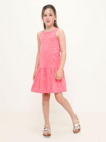 שמלה בהדפס לבבות / 4Y-16Y של FOX