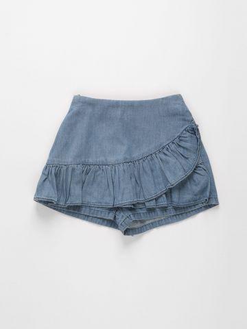 מכנסי חצאית ג'ינס בשילוב מלמלה / בנות של FOX