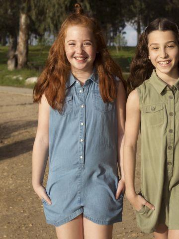 אוברול ג'ינס עם כפתורים / בנות של FOX