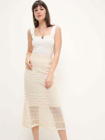 חצאית מידי קרושה בטקסטורות משתנות של TERMINAL X