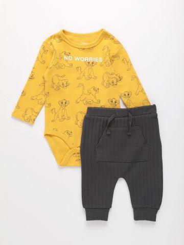 סט בגד גוף ומכנסיים בהדפס דיסני / 0-18M של FOX