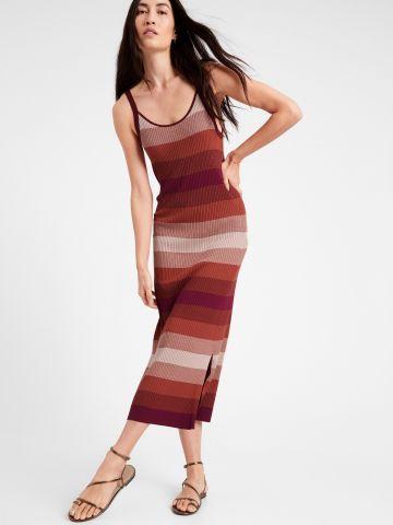 שמלת סריג בדוגמת פסים של BANANA REPUBLIC