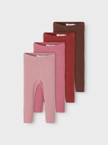 מארז 4 זוגות מכנסיים ארוכים / 0-12M של NAME IT
