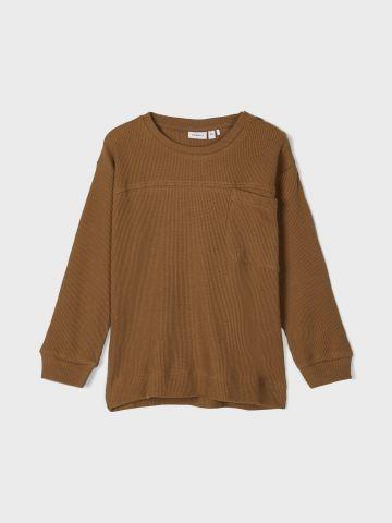 חולצת וופל עם כיס / 1Y-5Y של NAME IT