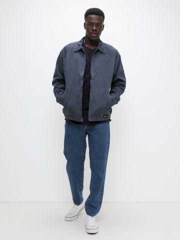ג'קט ג'ינס עם לוגו של QUIKSILVER