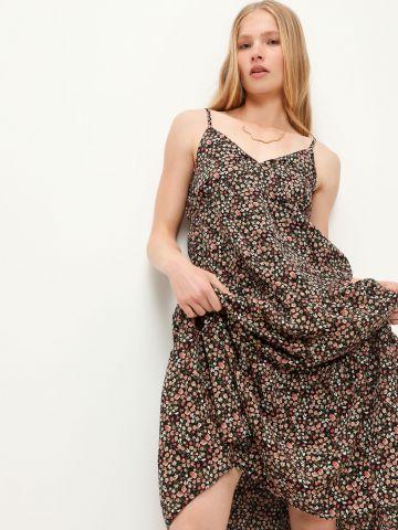 שמלת מידי שכבות בהדפס פרחים של TERMINAL X