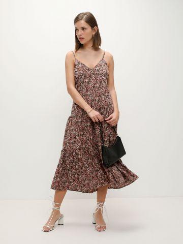 שמלת מקסי קומות בהדפס פרחים של TERMINAL X