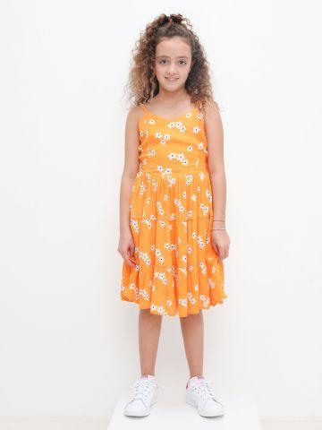 שמלת מידי קומות בהדפס פרחים של FOX