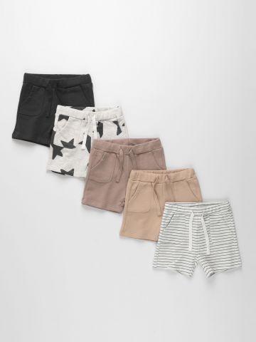 מארז 5 מכנסי פרנץ'-טרי בהדפסים שונים / 3M-6Y של TERMINAL X KIDS