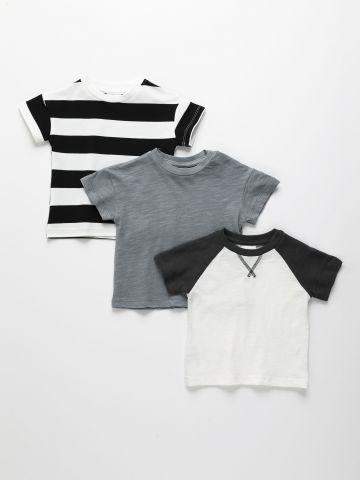מארז 3 חולצות טי שירט / 3M-14Y של TERMINAL X KIDS