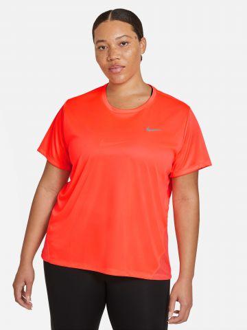 חולצת ריצה בשילוב רשת עם לוגו Plus Size / Dri-FIT של NIKE