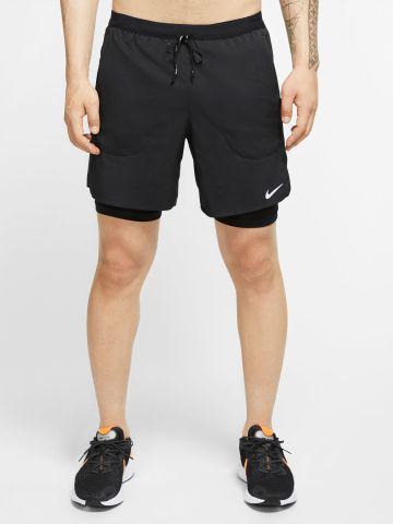 מכנסי ריצה עם טייץ פנימי של NIKE