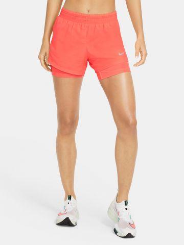 מכנסי ריצה עם טייץ פנימי Dri-Fit של NIKE