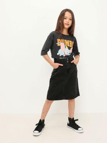 חצאית ג'ינס עם גומי במותן של FOX