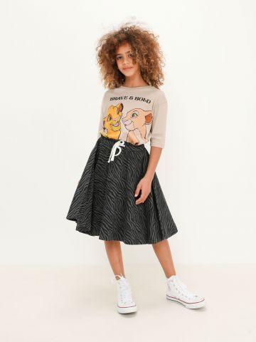 חצאית בהדפס עם שרוך של FOX