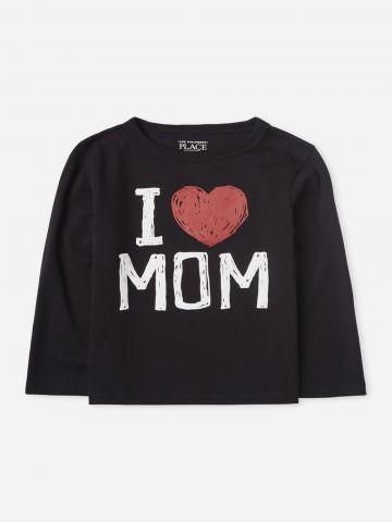 טי שירט I Love Mom / 9M-4Y של THE CHILDREN'S PLACE