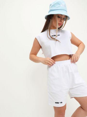 מכנסי טרנינג קצרים עם רקמת כיתוב Killin It של NOA KIREL X TERMINAL X