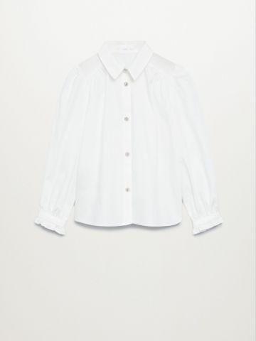 חולצה עם כפתורים דקורטיבים של MANGO