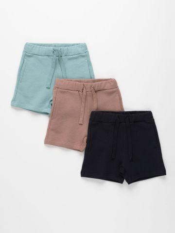 מארז 3 מכנסי פרנץ' טרי בצבעים שונים / 3M-6Y של TERMINAL X KIDS