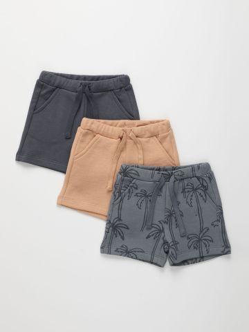 מארז 3 מכנסי פרנץ' טרי קצרים / 3M-8Y של TERMINAL X KIDS
