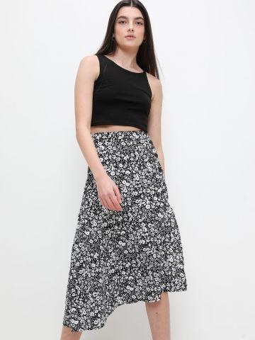 חצאית מידי בהדפס פרחים של FOX