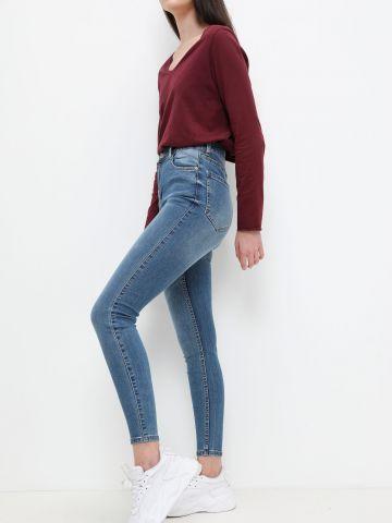 ג'ינס סקיני בגזרה גבוהה של FOX