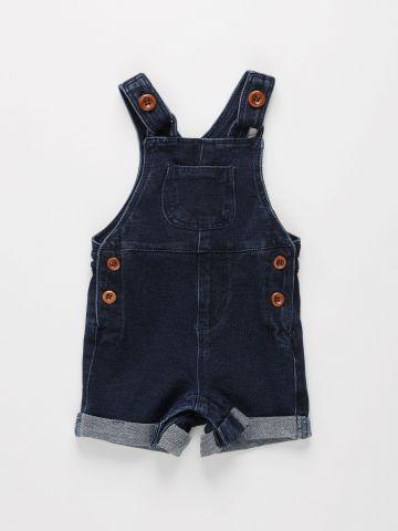 אוברול ג'ינס קצר עם כיסים / 0M-2Y של FOX