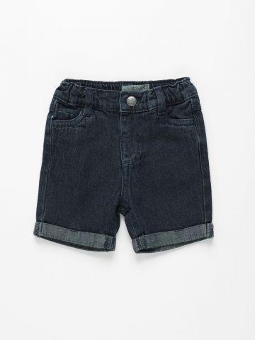 ג'ינס ברמודה קצר בשטיפה כהה / 3M-3Y של FOX