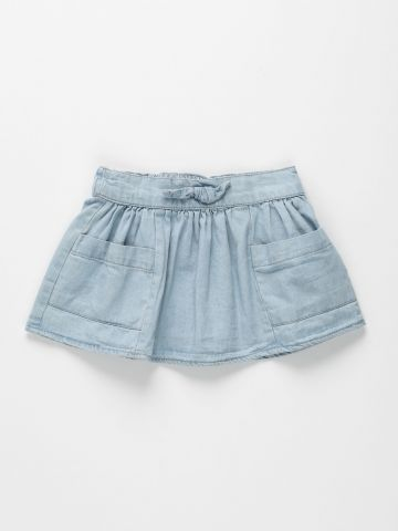 חצאית ג'ינס עם כיסים / 3M-3Y של FOX