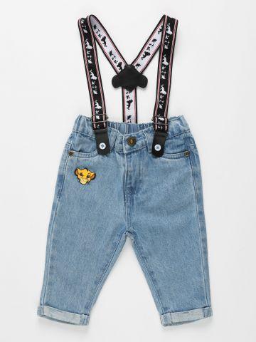 ג'ינס עם שלייקרס בדוגמת מלך האריות / 3M-3Y של FOX