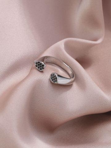 טבעת אליס כסף של LUX