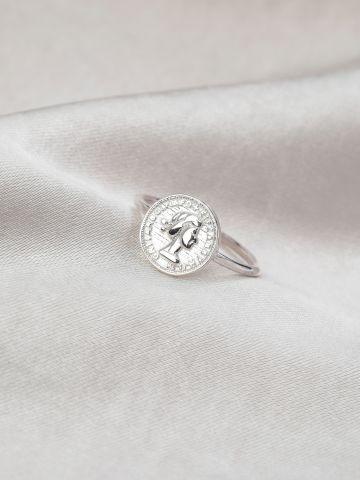 טבעת מטבע כסף של LUX