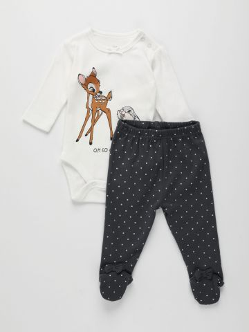 סט בגד גוף ומכנסיים ארוכים בהדפס דיסני / 0M-12M של FOX