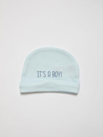 כובע גרב עם הדפס כיתוב N.B / בייבי של FOX