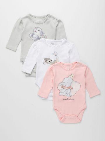 מארז 3 בגדי גוף עם הדפס דיסני / בייבי בנות של FOX