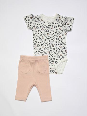 סט בגד גוף ומכנסי טרנינג / 0M-24M של FOX