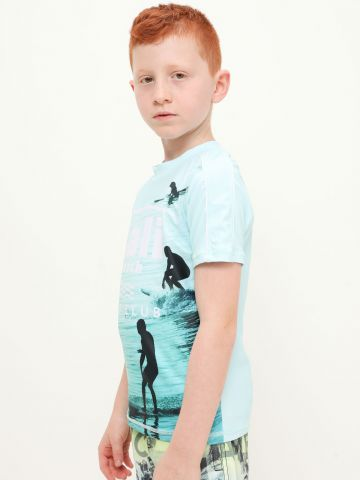 חולצת גלישה בהדפס של FOX