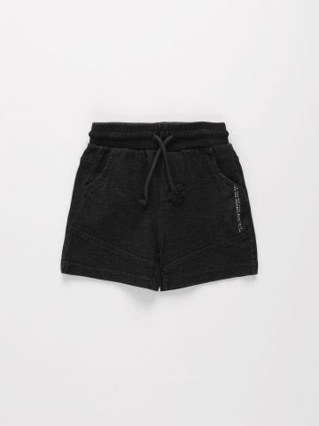 מכנסי טרנינג קצרים בסגנון ווש / 3M-3Y של FOX