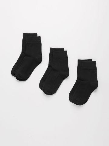 מארז 3 גרביים חלקים / בנים של FOX