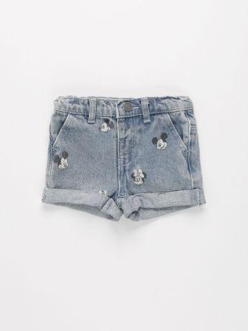 ג'ינס קצר בהדפס דיסני / 3M-3Y של FOX